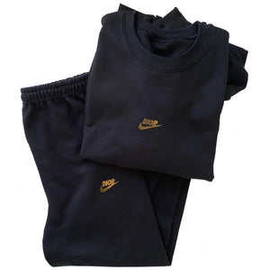 Black and Gold Fashion Sweat Suit