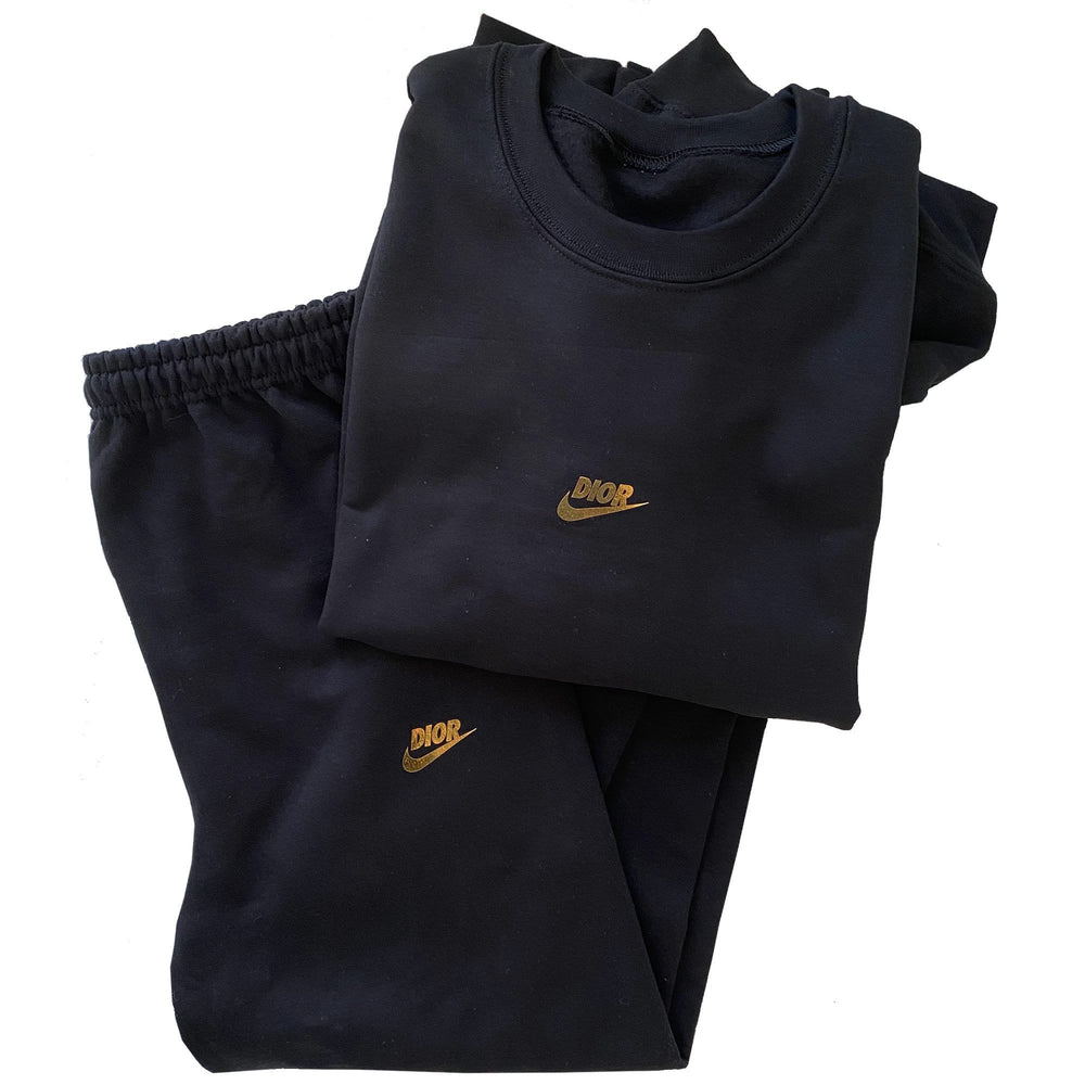 Black and Gold Fashion Sweatpants