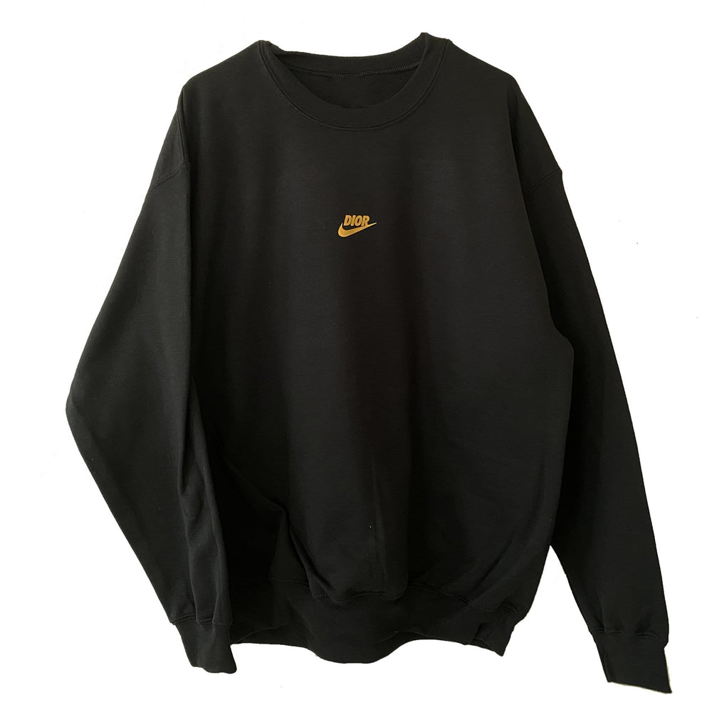 Black and Gold Fashion Sweatshirt