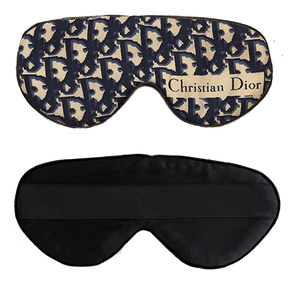 Vintage Dior Logo Sleep Mask- Navy