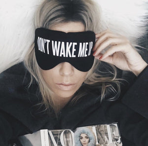 Don't Wake Me Up Cotton Lux Sleep Mask