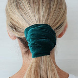 Emerald Green Wired Velvet Headwrap