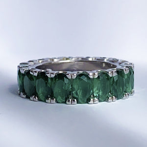 Emerald Ice Ring Size 7