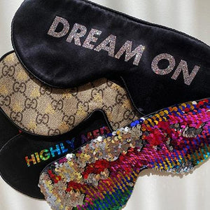 DREAM ON GLITTER Silk Sleep Mask