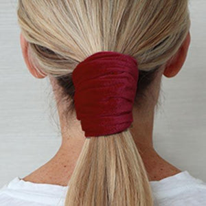 Garnet Red Wired Velvet Headwrap