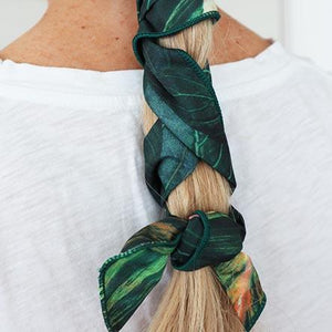 Green Palm Leaf Wire Headwrap