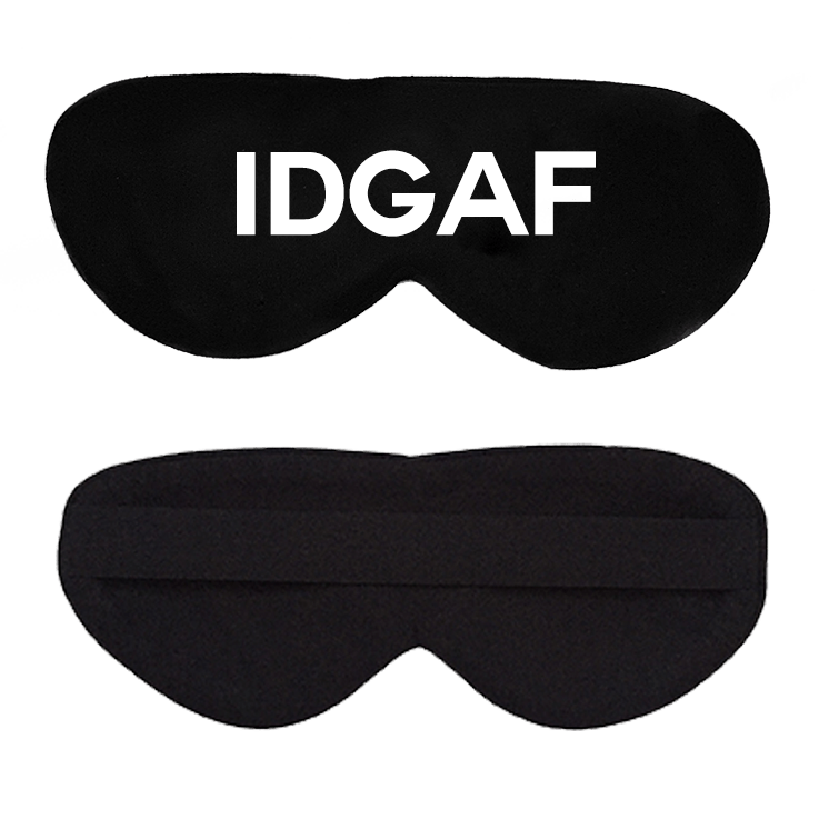 IDGAF Cotton Lux Sleep Mask
