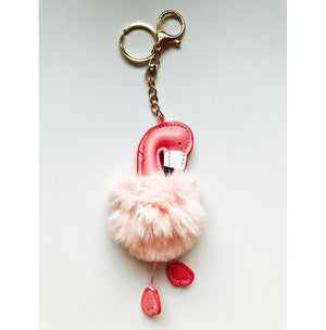 Furry Flamingo Keychain