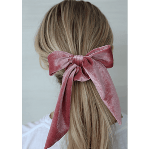 ROSE PINK VELVET SCRUNCHIE