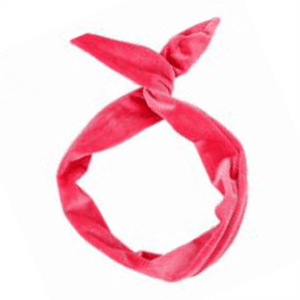 Poppy Pink Wired Velvet Headwrap