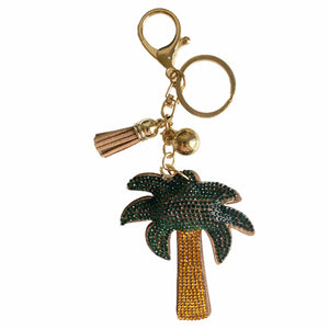 Palm Tree Bag Charm Keychain