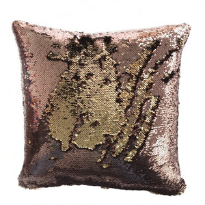 Copper & Gold Sequin Magic Pillow