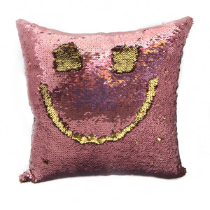 Rose Pink & Gold Sequin Magic Pillow