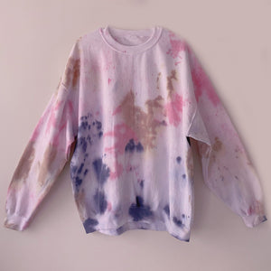 Pink Cotton Candy Tie Dye Sweatshirt