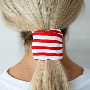 Red Stripe Wire Headwrap