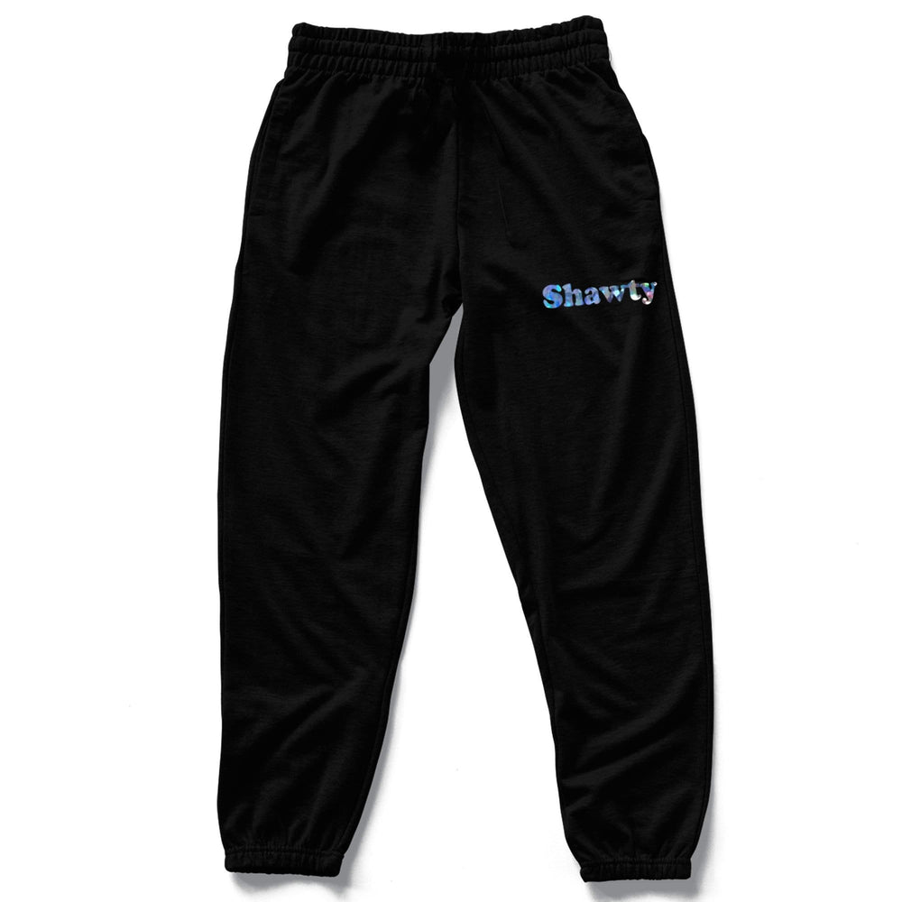 SHAWTY BLACK SWEATPANTS