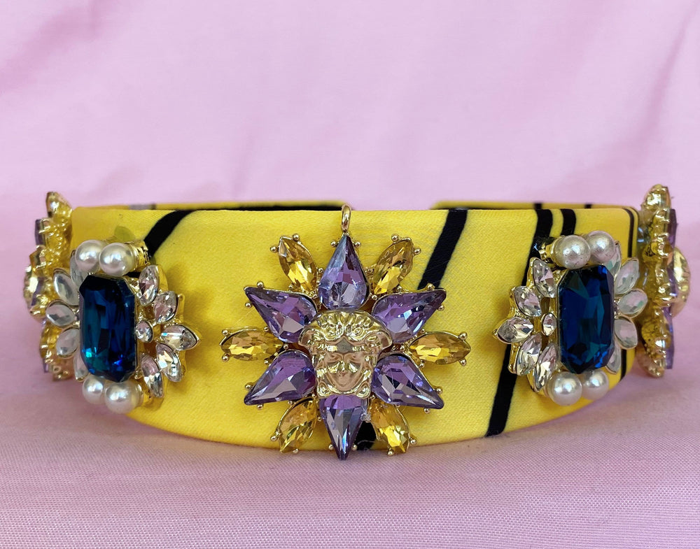 YELLOW GEM HEADBAND