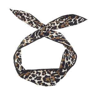 Cheetah Wire Headwrap