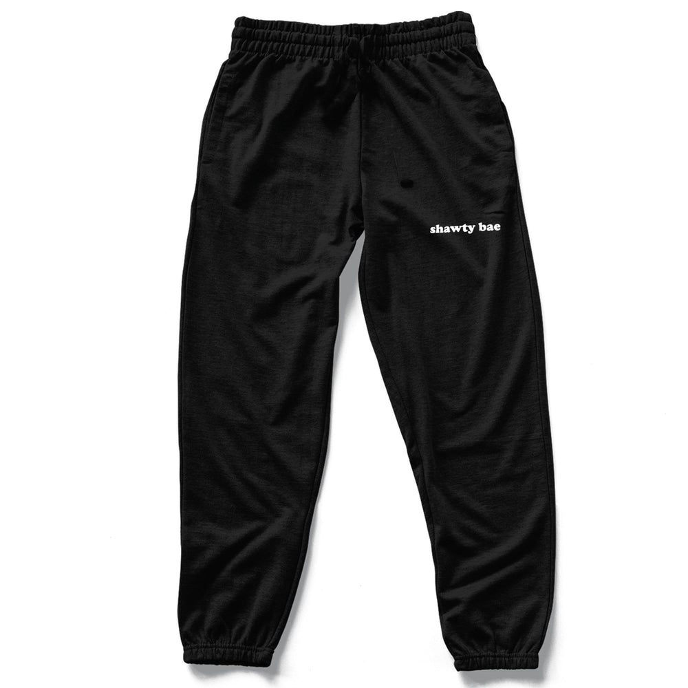 shawty bae Black Sweatpants