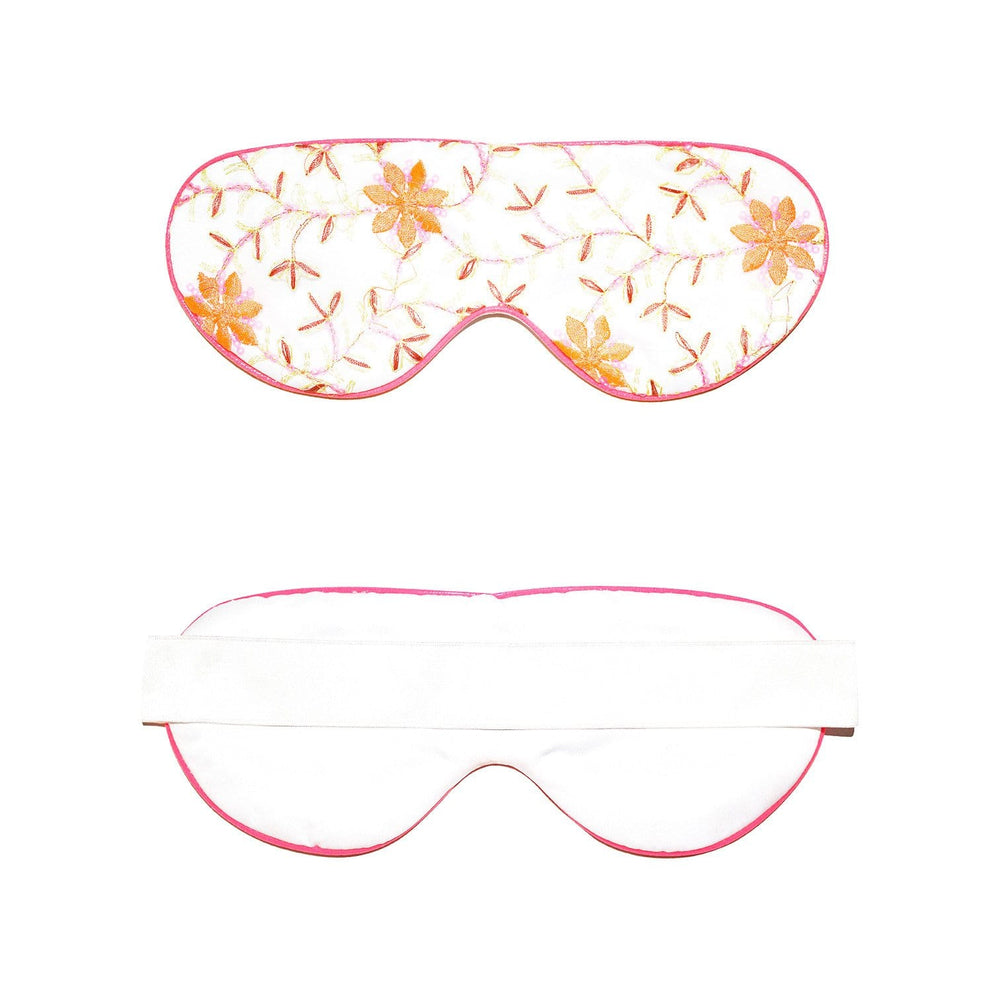 Neon Pink Lace Eye Mask