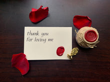 Load image into Gallery viewer, thank you for loving me Card
