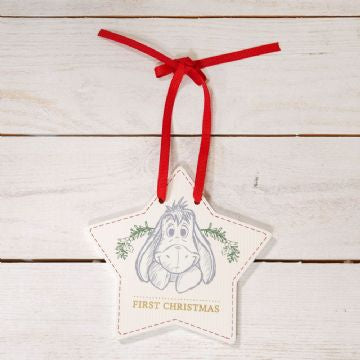 DISNEY BABY'S FIRST CHRISTMAS HANGING PLAQUE - EEYORE PRE ORDER