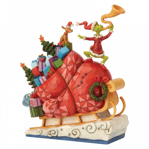 Grinch on Sleigh Figurine