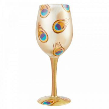 Lolita Golden Peacock Wine Glass