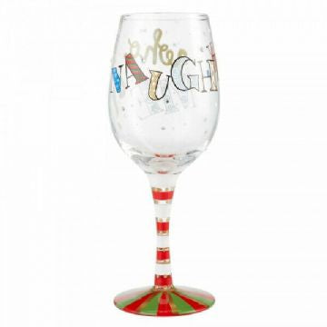 Naughty..... Who Me Wine Glass