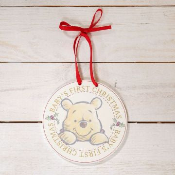 DISNEY BABY'S FIRST CHRISTMAS HANGING PLAQUE - POOH PRE ORDER