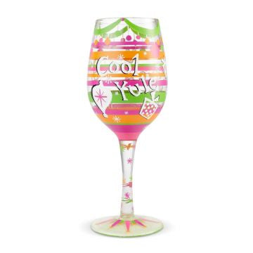 Cool Yule Wine Glass