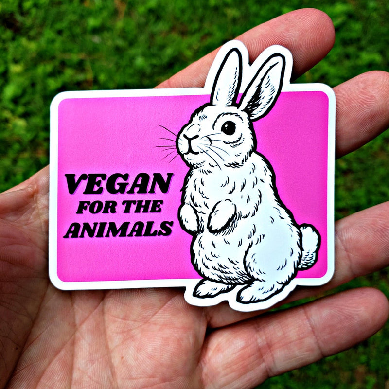 Vegan For The Animals Rabbit - Magnet