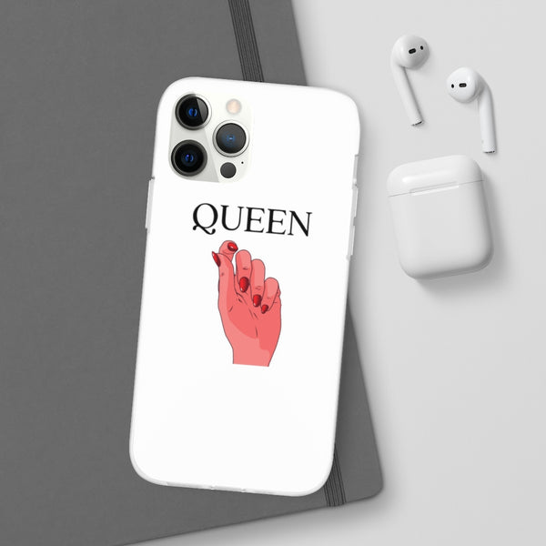 "White ""QUEEN"" iPhone Case"