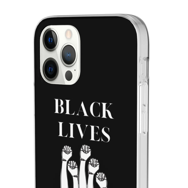 "Black ""BLACK LIVES MATTER"" iPhone Case"