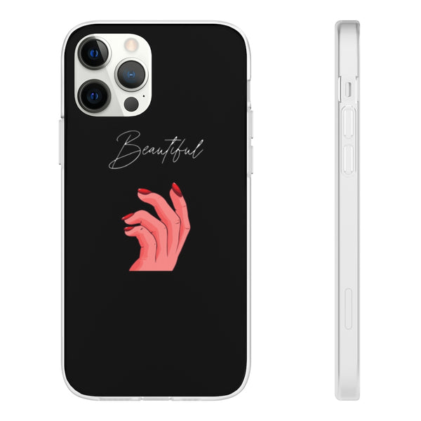 "Black ""Beautiful"" iPhone Case"