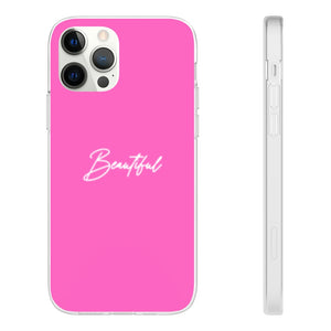 "Pink ""Beautiful"" iPhone Case"