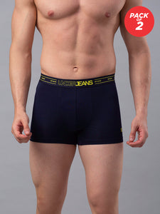 Underjeans Navy Cotton Trunk - Pack of 2