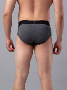 Underjeans Grey Cotton Brief