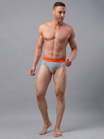 Load image into Gallery viewer, Underjeans Grey Cotton Brief