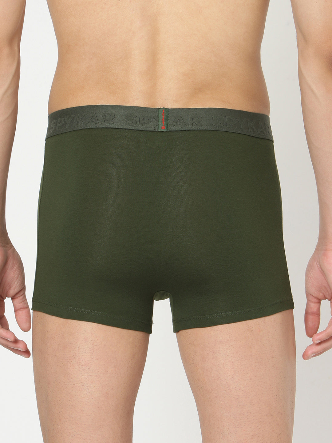 Underjeans Olive Cotton Trunks Pack of 2