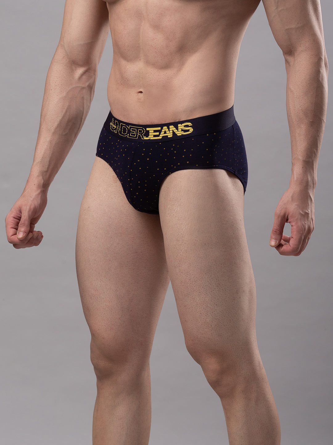 Underjeans Navy Blue Cotton Brief