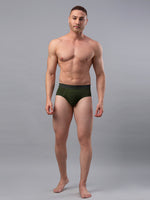 Load image into Gallery viewer, Underjeans Olive Cotton Brief