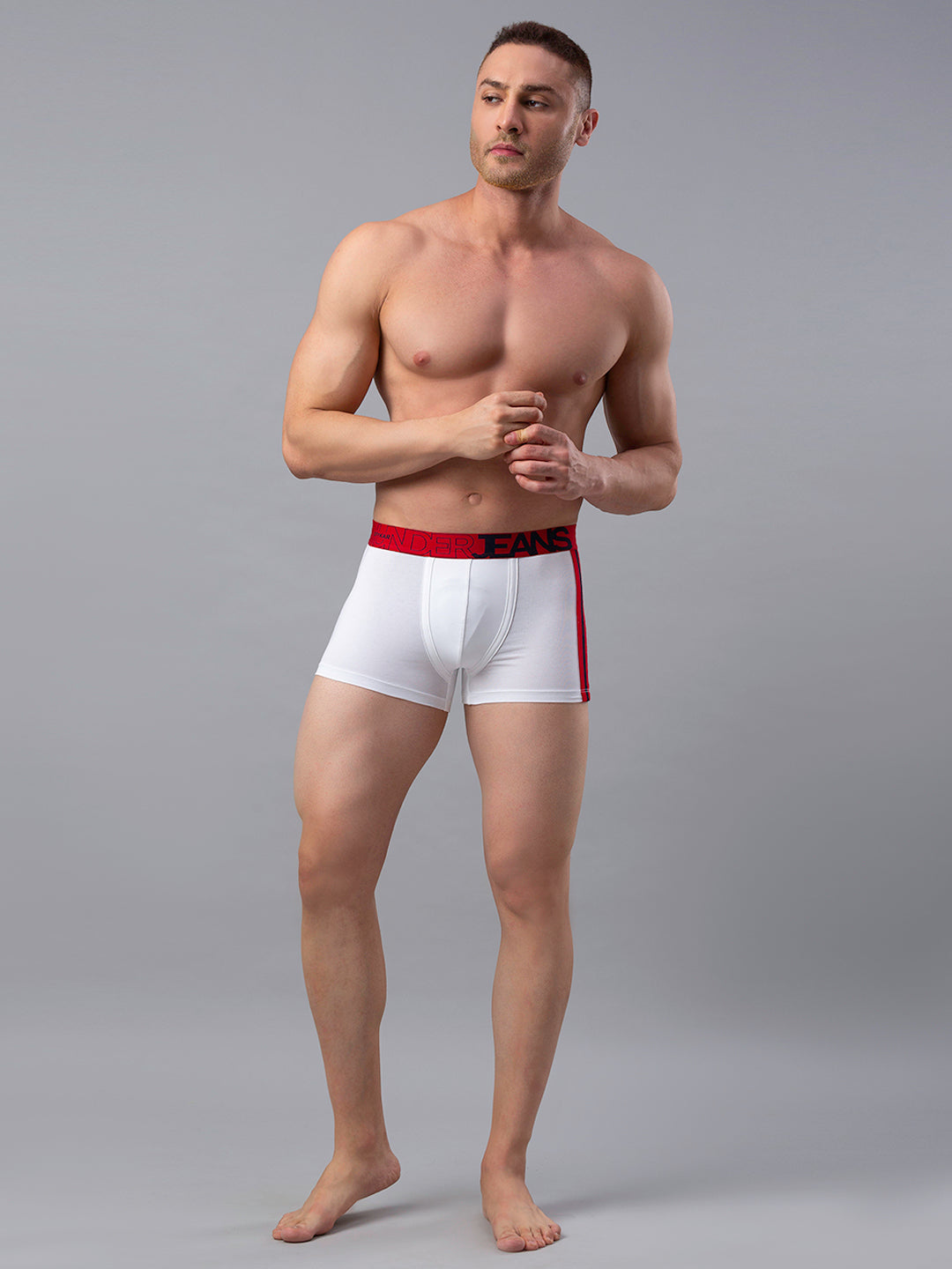 Underjeans White Cotton Trunk