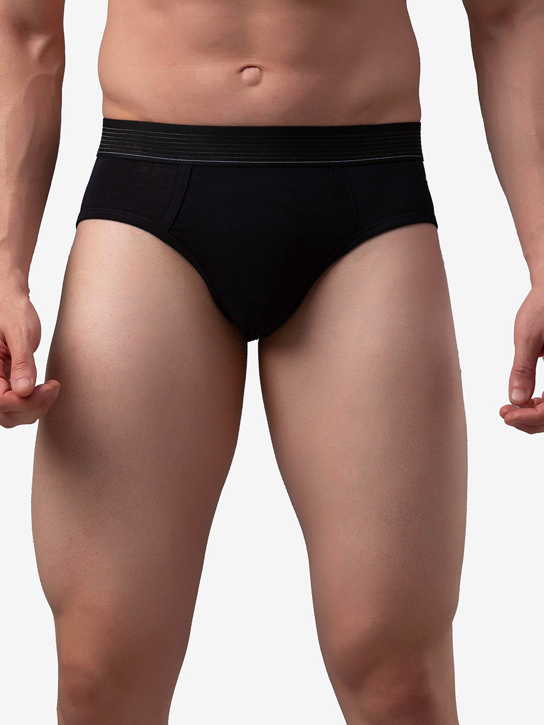 Underjeans Black Cotton Brief - Pack of 2