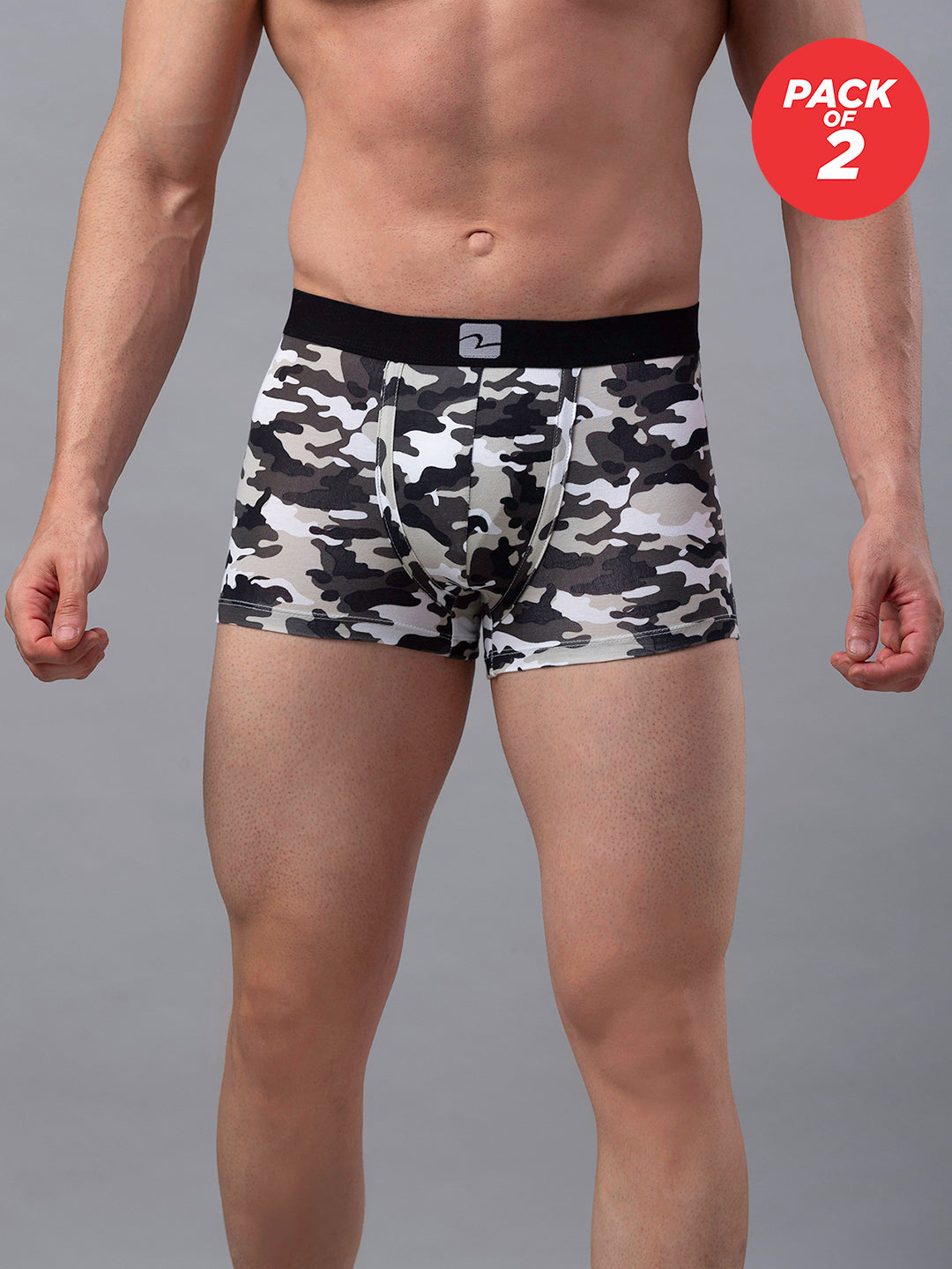Underjeans Print Cotton Trunk - Pack of 2