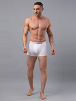 Load image into Gallery viewer, Underjeans White Cotton Trunks - Pack of 2