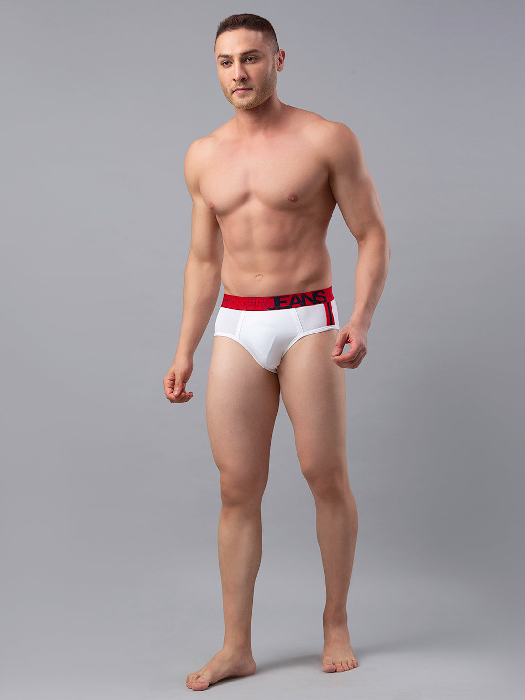 Underjeans White Cotton Brief