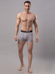 Underjeans Grey Cotton Trunks - Pack of 2