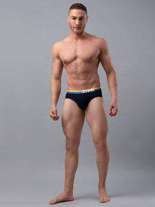 Underjeans Navy Cotton Brief