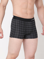 Load image into Gallery viewer, Underjeans Black-Check Cotton Trunks